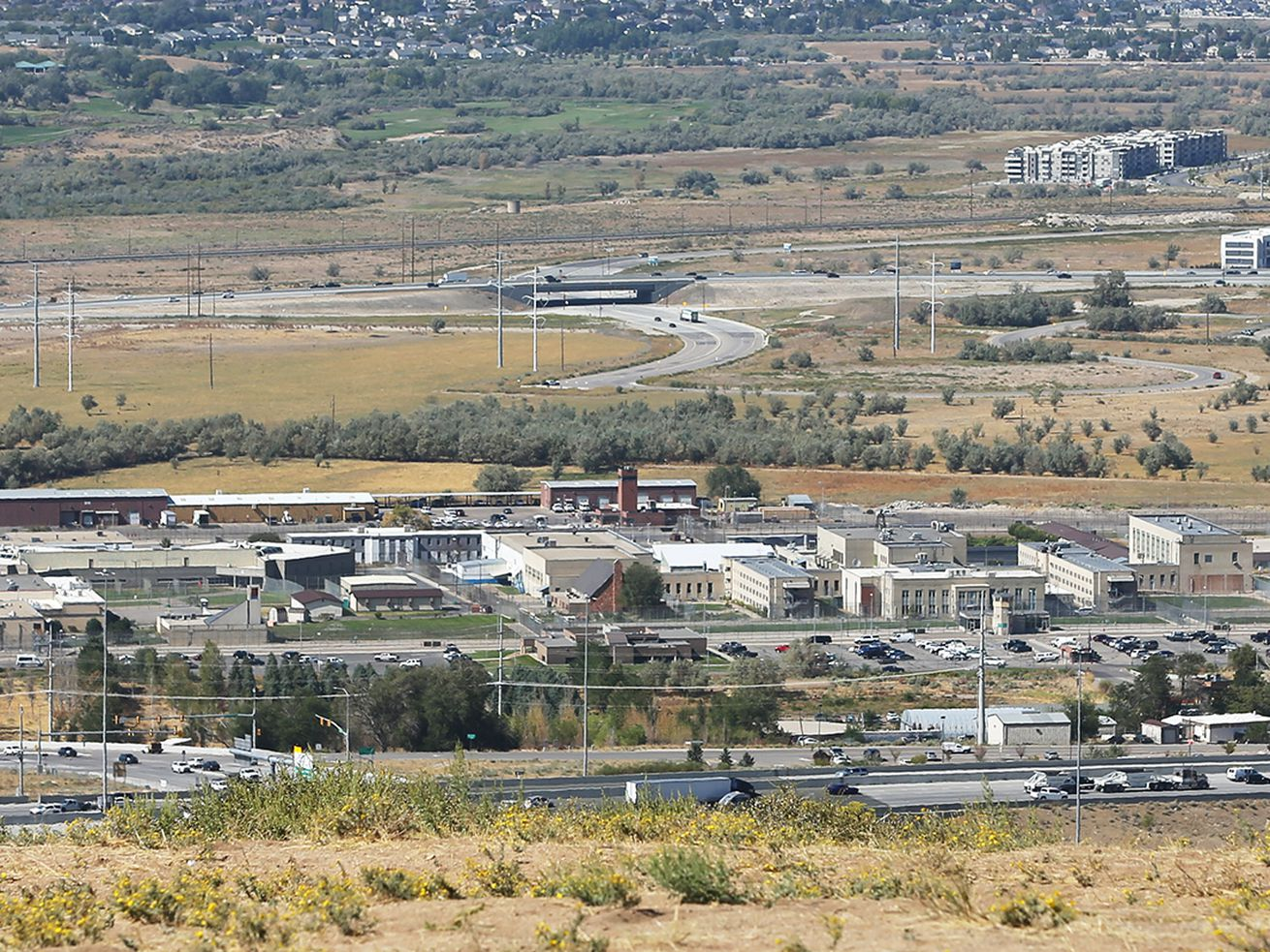 A section of the Utah State Prison at the Point of the Mountain in Draper is pictured on Friday, Sept. 11, 2020.