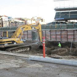 Another view of the dig in the left-field bleachers along Waveland