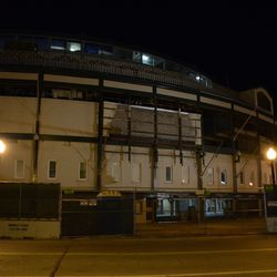 5:33 p.m. The front of the ballpark -