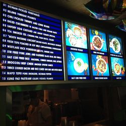 The front takeout counter's menu and highlights board evokes other Chinese spots in the area.