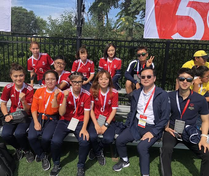 Team Korea during the opening games of the Special Olympics Unified Cup opening ceremonies. | Francesca Gattuso