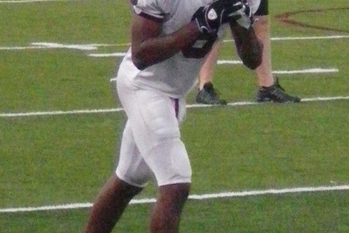 Austin High WR Cayleb Jones (photo by the author).
