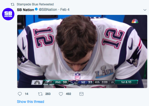 97f955630dd Let's face it, nobody feels bad for the Patriots with their five Super Bowl  wins (other than Patriots fans). But, it's pretty easy to be happy for the  ...