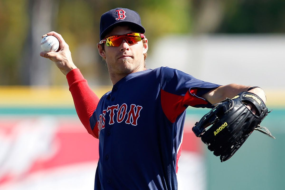 Outfielder Josh Reddick of the Boston Red Sox warms up just prior to the start of the Grapefruit League Spring Training Game against the Pittsburgh Pirates at McKechnie Field on March 13, 2011  (Photo by J. Meric/Getty Images)