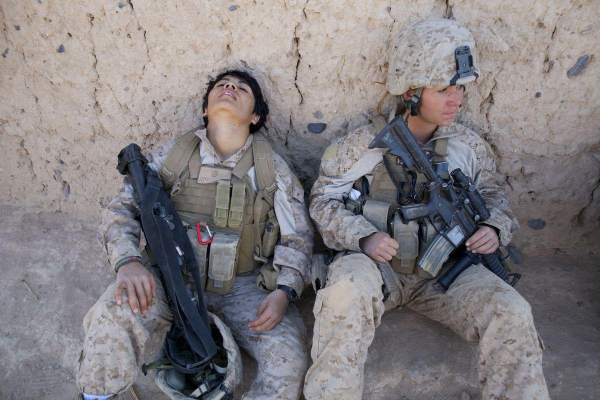 US Marines in Afghanistan.