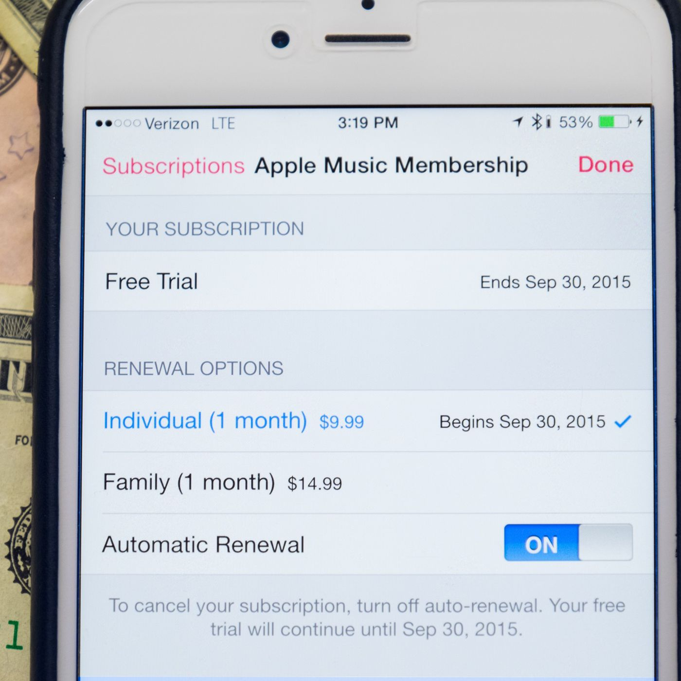 How to turn off Apple Music's auto-renewal before your free