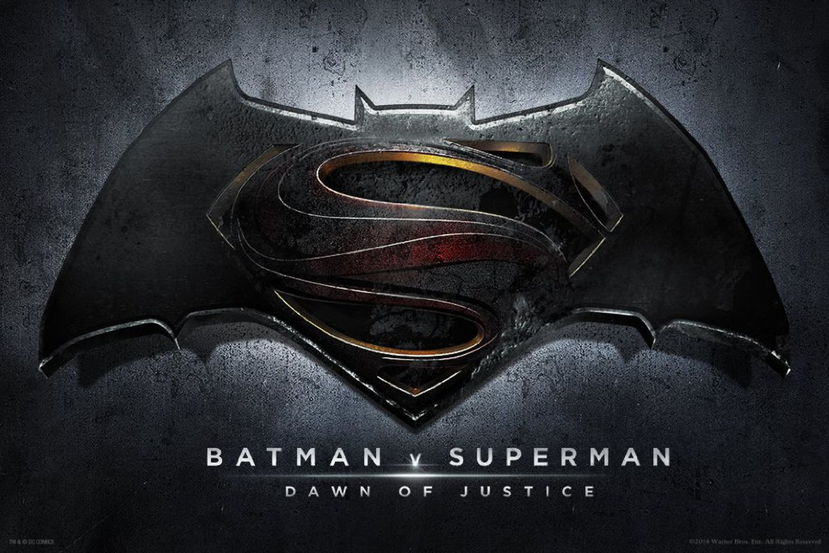 The logo for Batman v. Superman: Dawn of Justice.