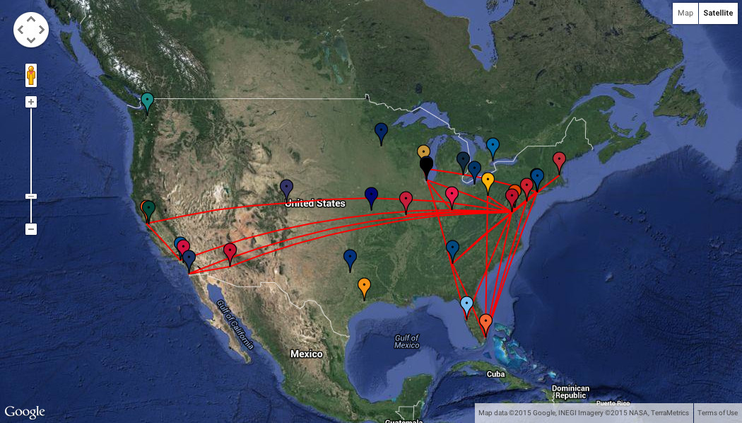 Nats' 2015 Travel Map