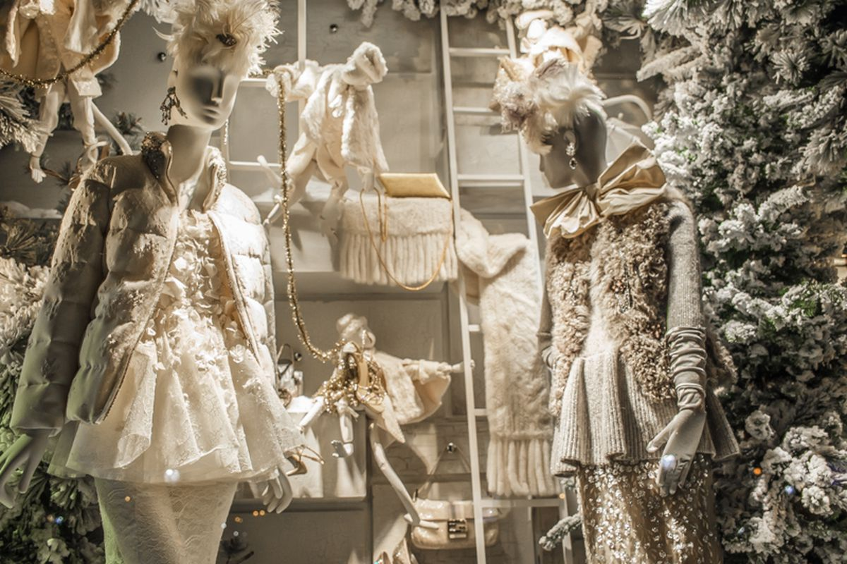 """In the window at Bergdorf Goodman. Photo by <a href=""""http://peladopelado.com/"""">Driely S.</a>"""