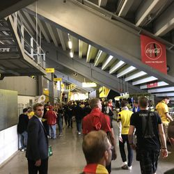 Inside Signal Iduna Park on the day of the DFL-Supercup against Bayern Munich, August 3, 2019.