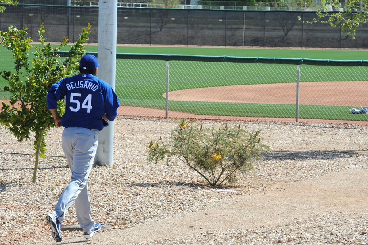 He's baaaaaack...on the 40-man roster. (<em>Photo: Jon SooHoo / LA Dodgers</em>)