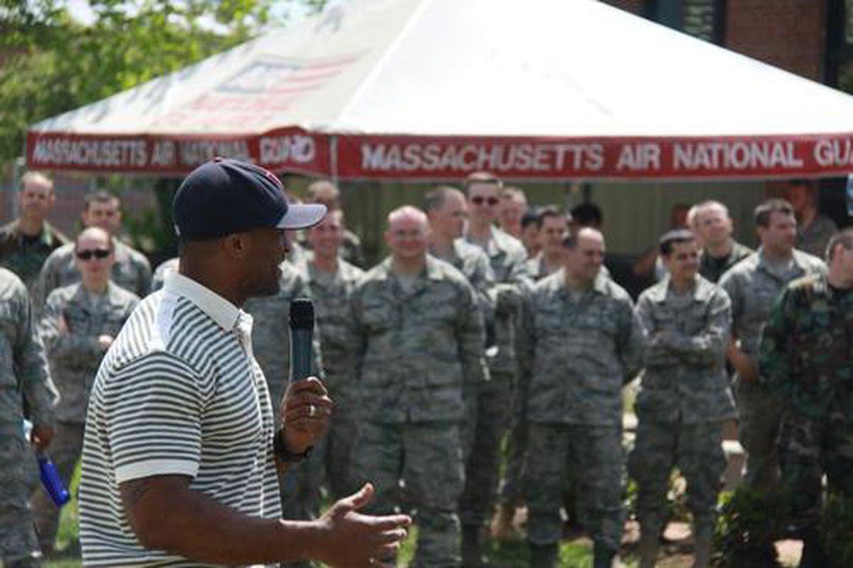 <em>Sammy Morris visits Air National Guard's 104th Fighter Wing</em>.