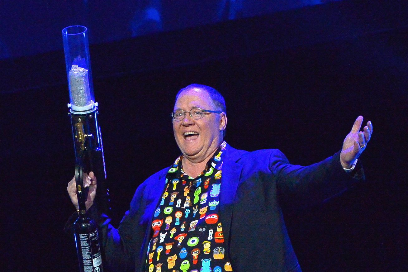 <em>John Lasseter at the 2017 D23 Expo in Anaheim, California.</em>
