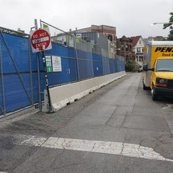 A tight squeeze on Patterson as a result of the construction
