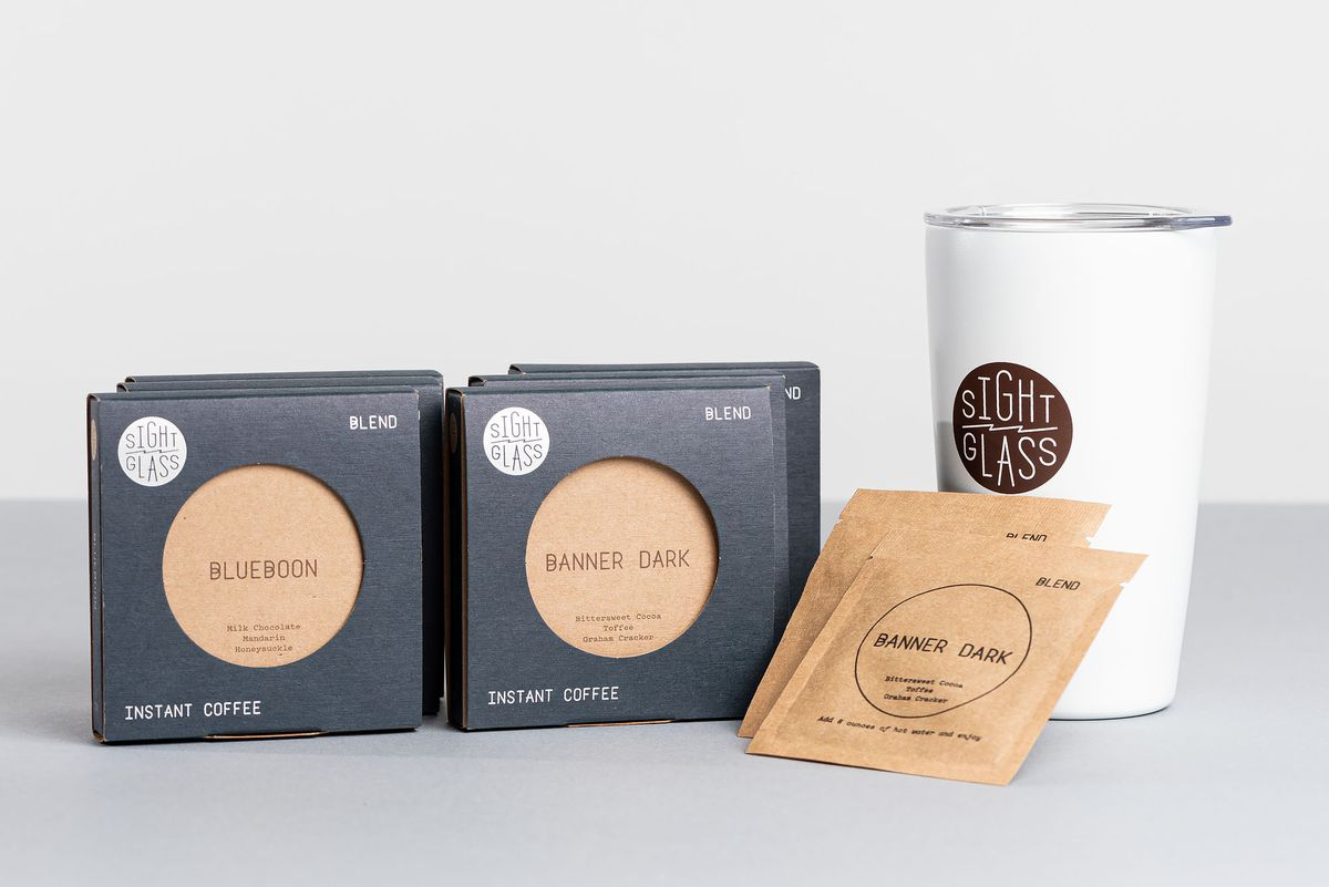 Instant coffees from Sightglass with tumbler