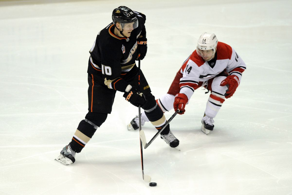 Watch out for Corey Perry, who had five points (and one stolen stick) in 2 games against the Canes last season.
