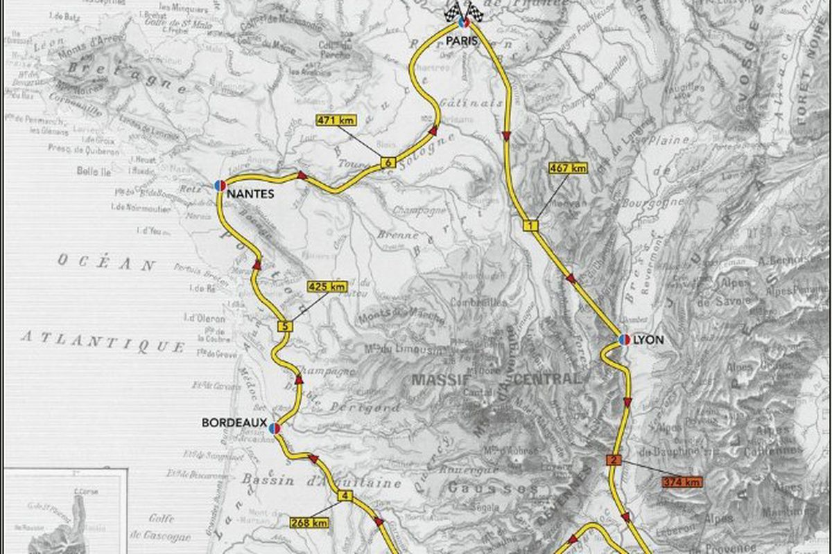 Mapping Le Tour, by Ellis Bacon.