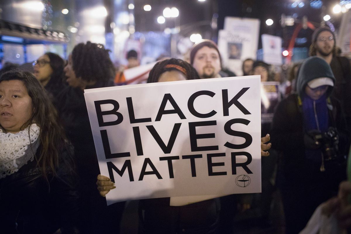 Black Lives Matter protesters in Chicago.