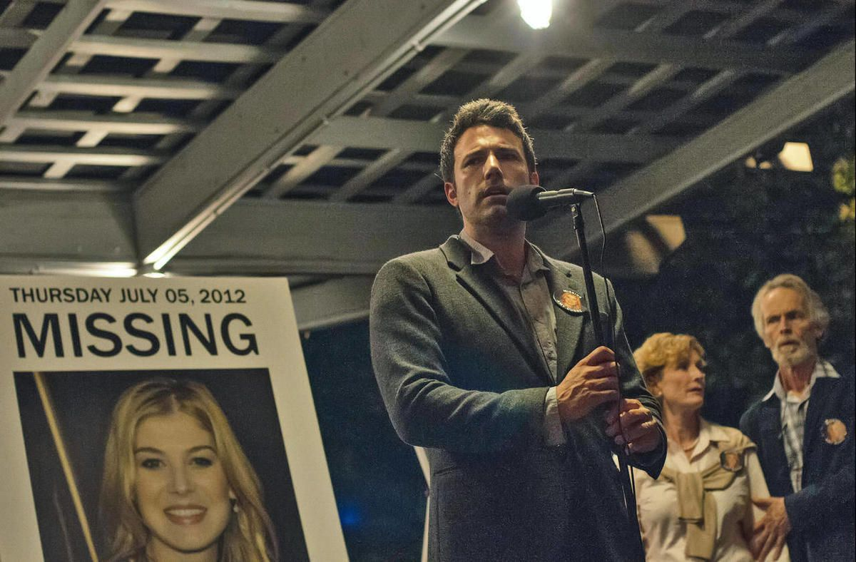 """This image released by 20th Century Fox shows Ben Affleck in a scene from """"Gone Girl."""""""