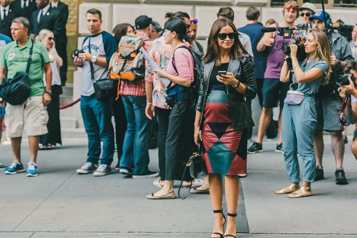 """Miroslava Duma at NYFW. Photo by <a href=""""http://drielys.com/"""">Driely S.</a> for Racked"""