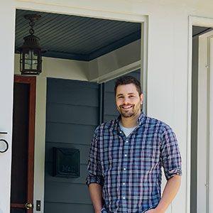 <p>First-time homeowner Bradley Huber.</p>