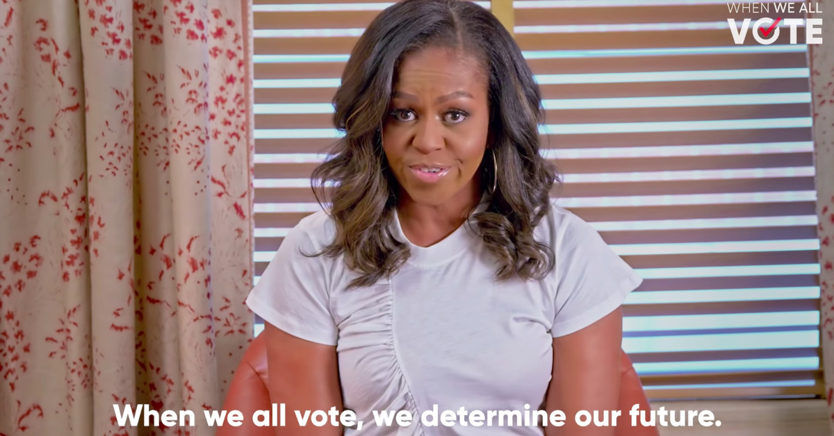 Michelle Obama may not want to be your president, but she still wants you to vote
