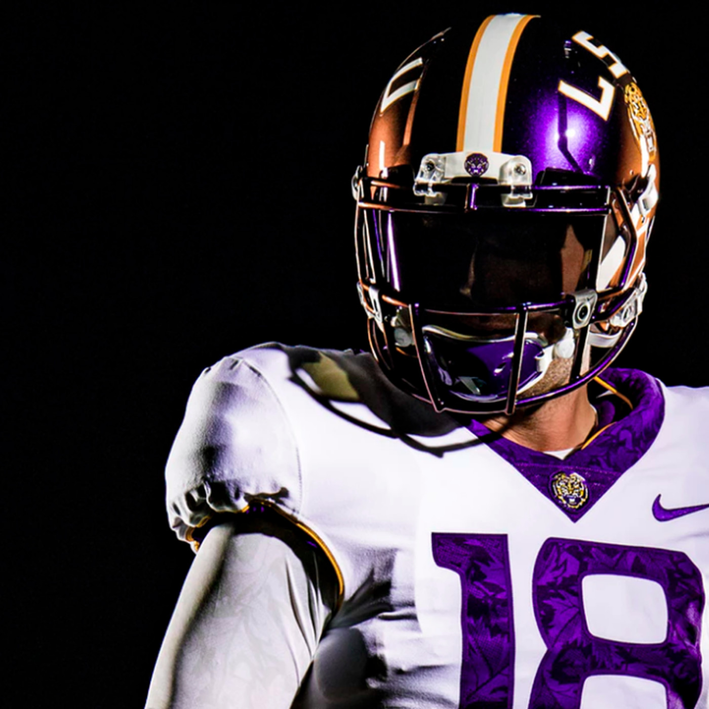 LSU wearing purple helmets that CHANGE COLOR TO GOLD - SBNation.com d5ad93d5a