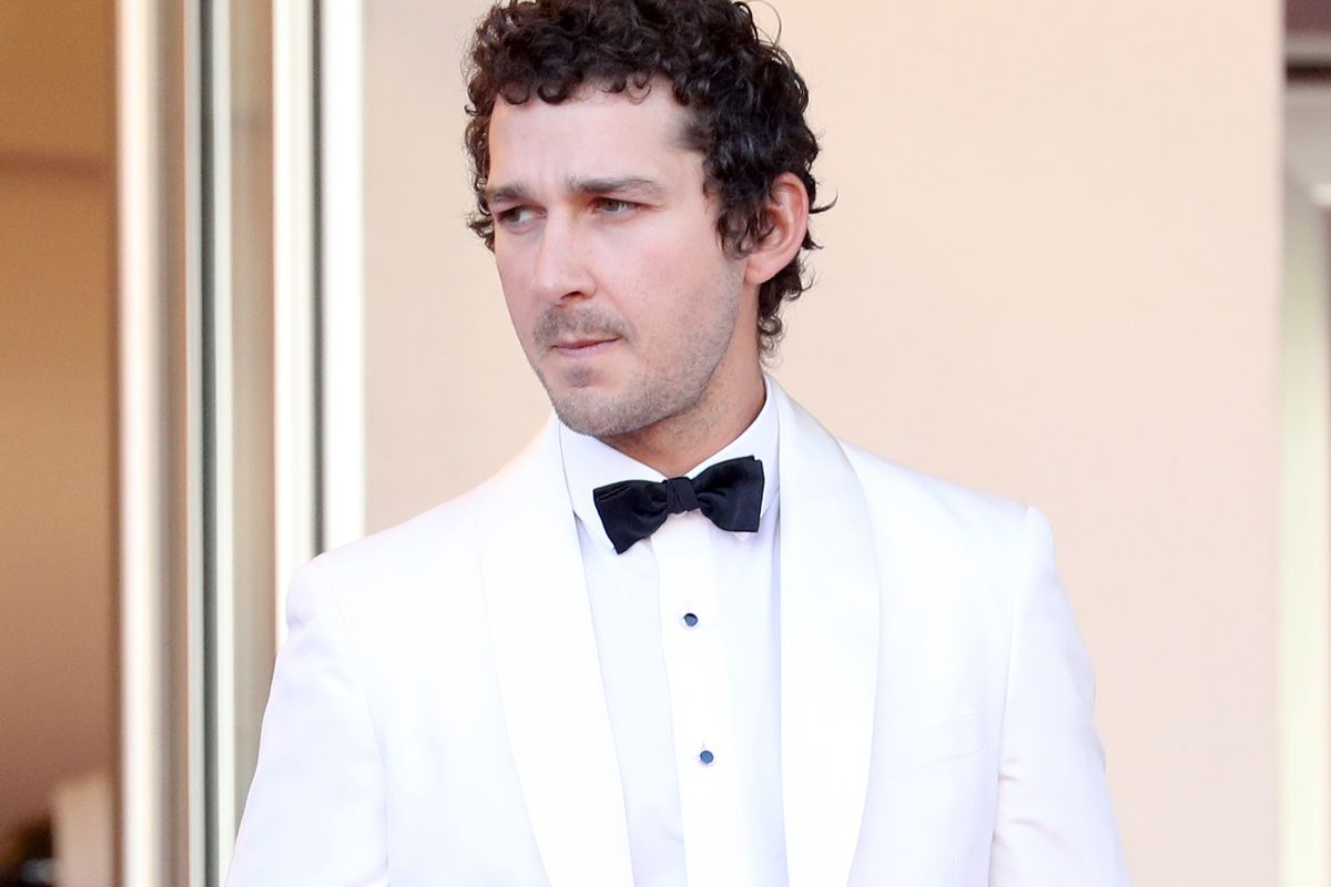 Shia LaBeouf attends the screening of American Honey at the 2016 Cannes Film Festival.