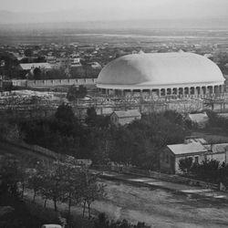 A historic photo of the Salt Lake Tabernacle.
