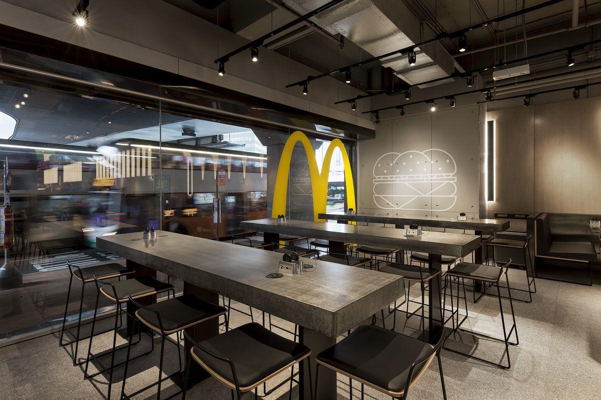 Interior of a McDonald's
