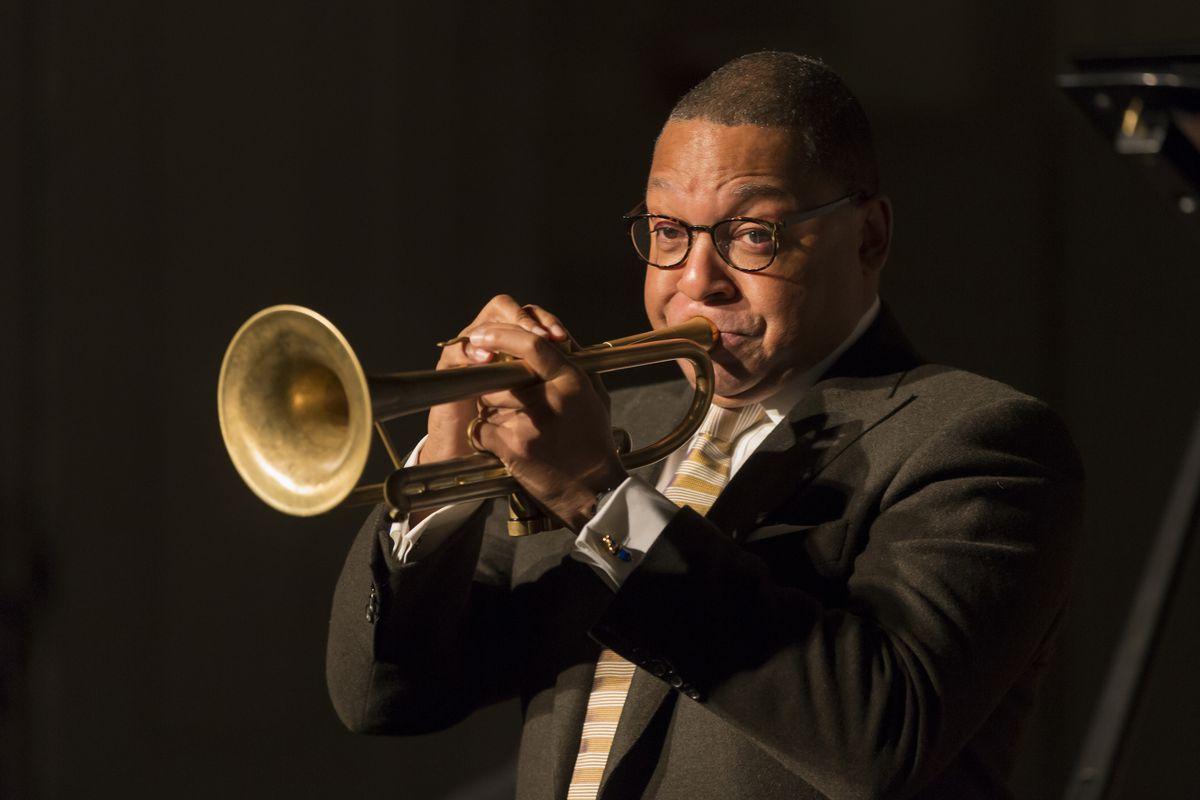 Jazz legend Wynton Marsalis plays in 2016.