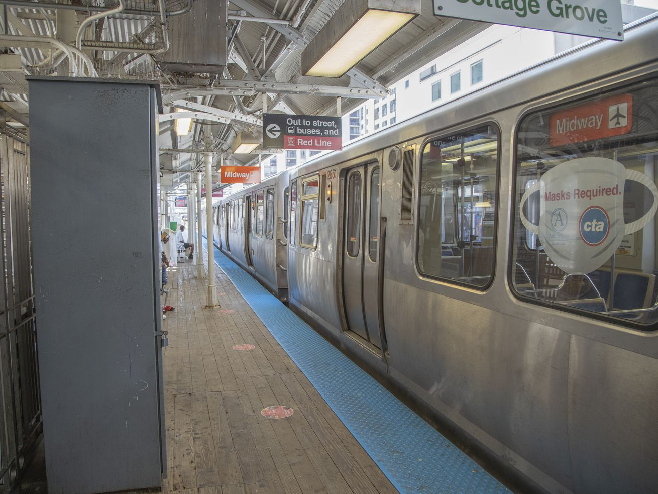 The State and Lake elevated CTA station, Wednesday, June 9, 2021.