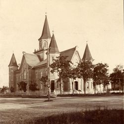 Historic photo of Provo Tabernacle.
