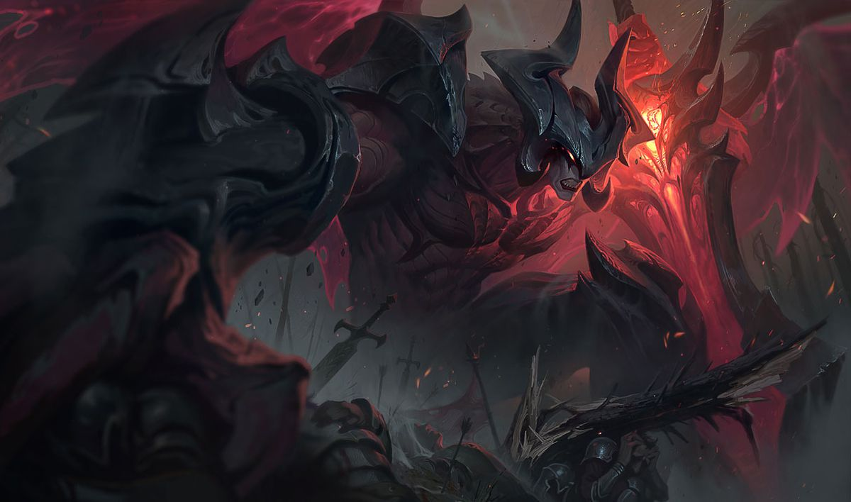 Aatrox in his base skin