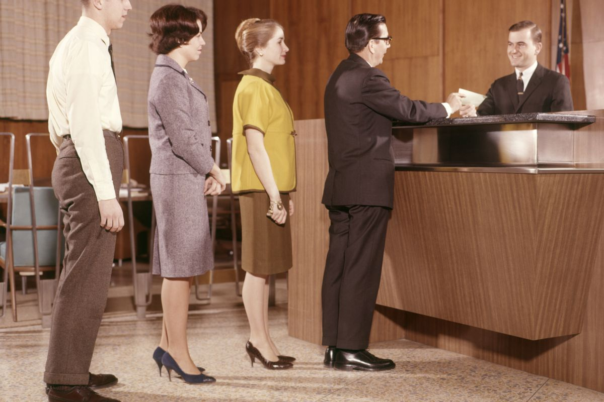 Not everyone has experienced the joy of standing in line at the bank.