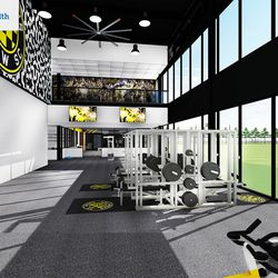 Weight rooms will face one of the training fields