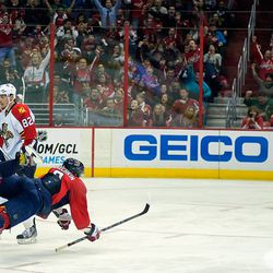 Ovechkin Falls After Goal