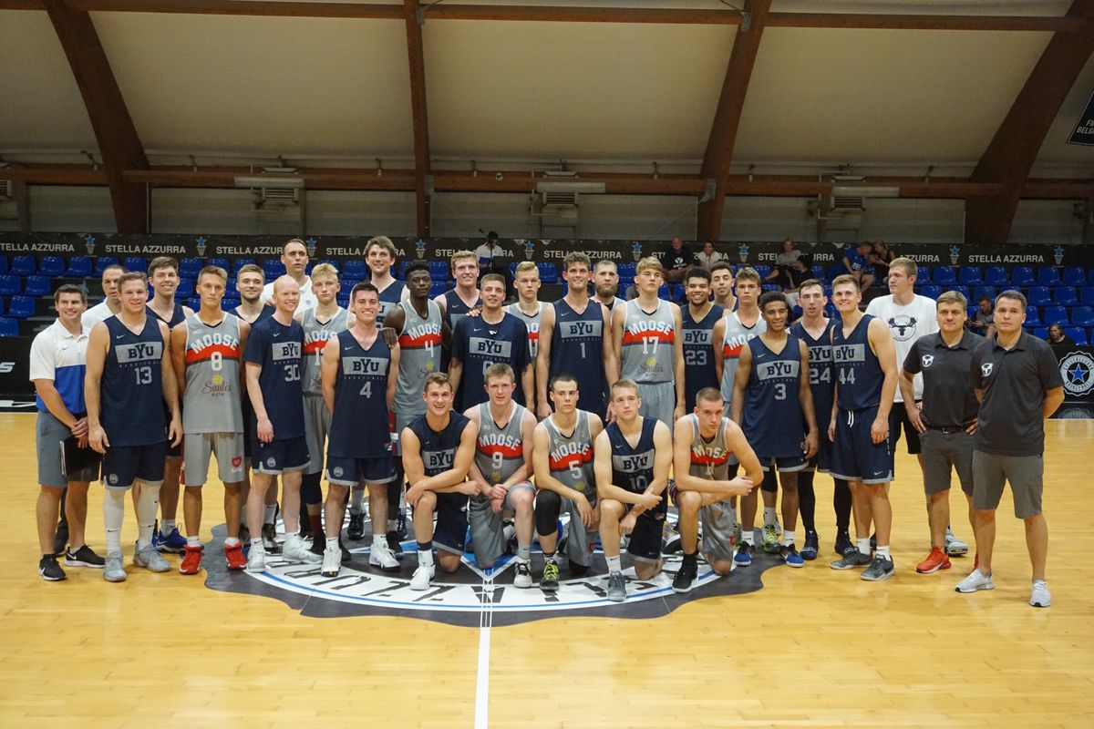 BYU Basketball tops LCC International in game 2 of Italy trip