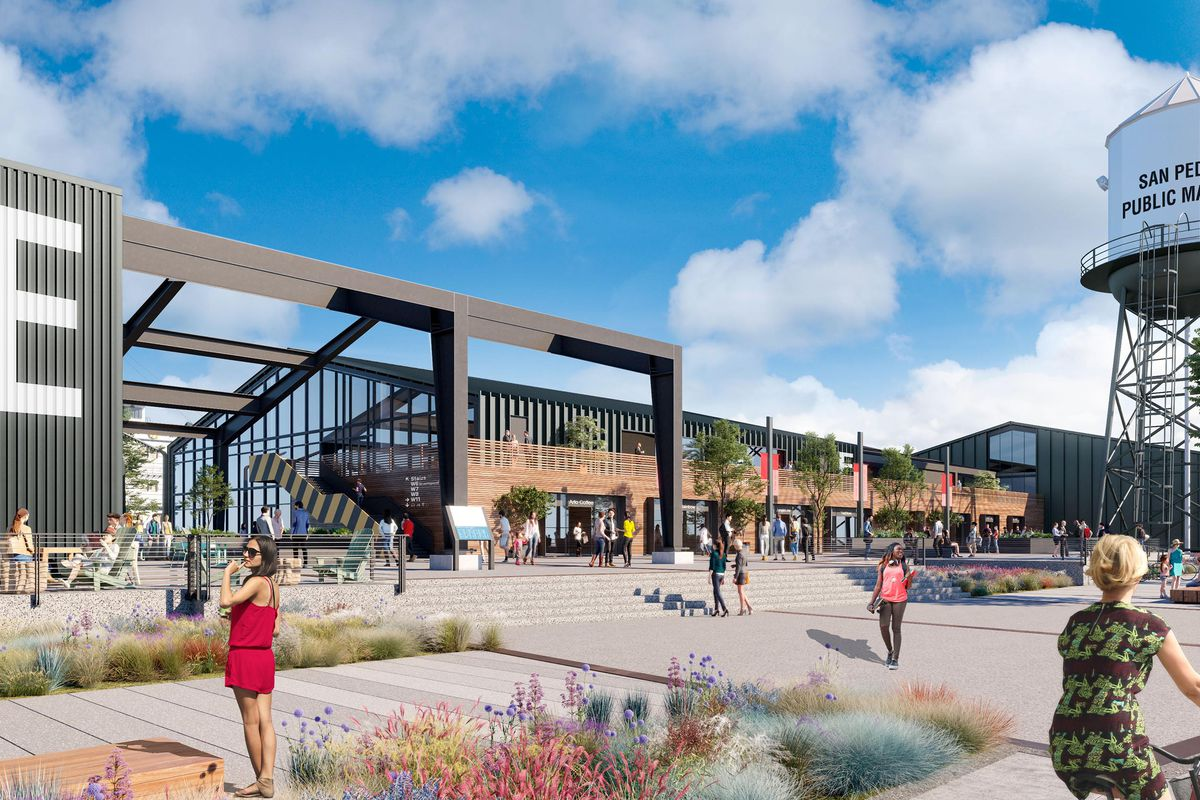New Renderings Revealed For Revamped San Pedro Public Market Curbed La