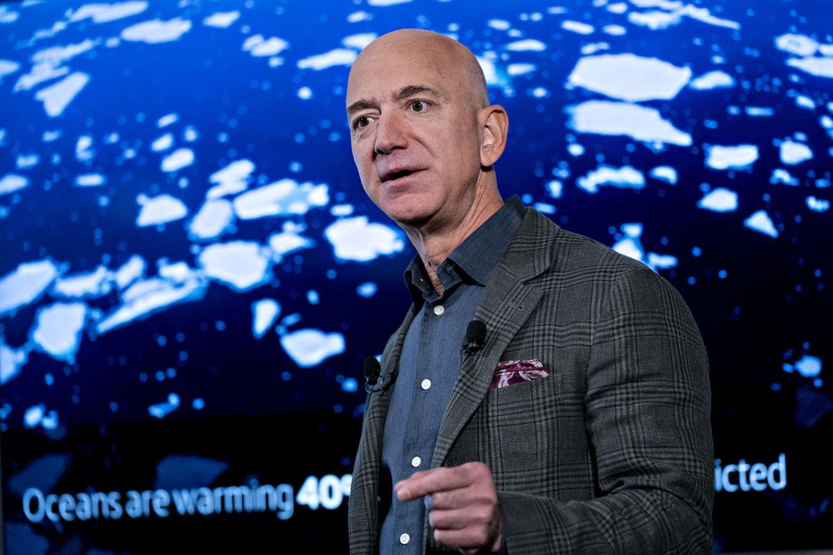 Amazon.com Inc. CEO Jeff Bezos Speaks At The National Press Club