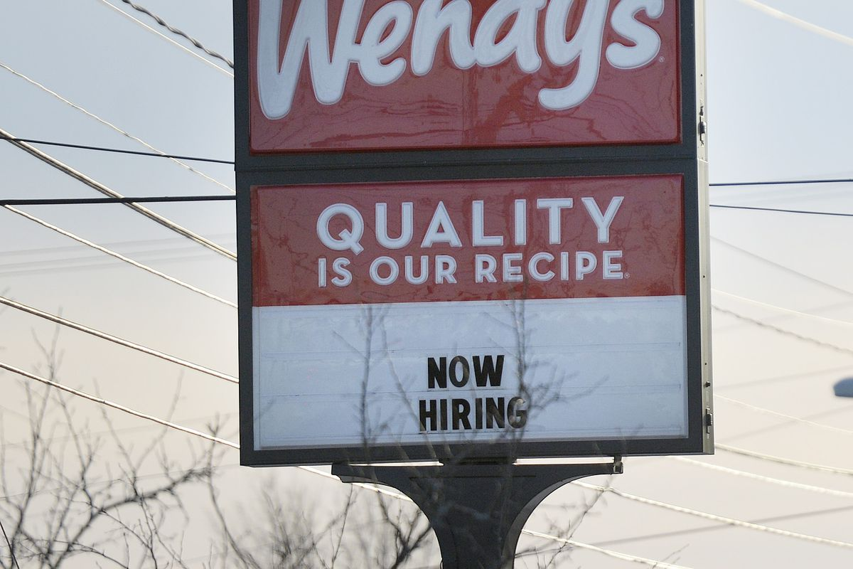 Now Hiring signs in Saco