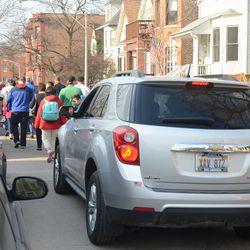 4:43 p.m. Motorist stuck in traffic on Seminary -