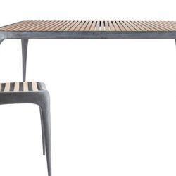 <b>Reeves Design</b> Cast Aluminum Indoor/Outdoor Chair, <b>$476</b> (from $595); <b>John Reeves</b> Cast Aluminum Indoor/Outdoor Table, <b>$1,836</b> (from $2,295)