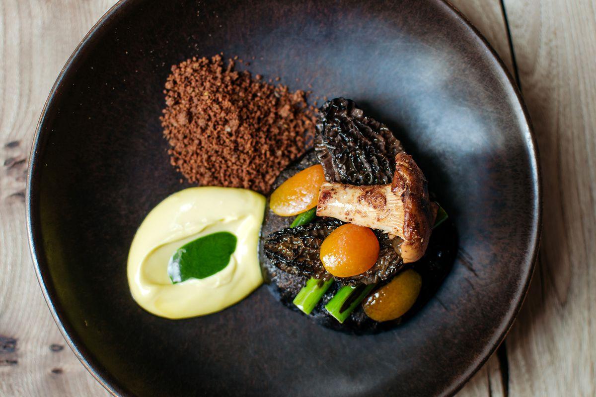 Mushroom suya — a Nigerian national dish — at Michelin-starred Ikoyi restaurant in London