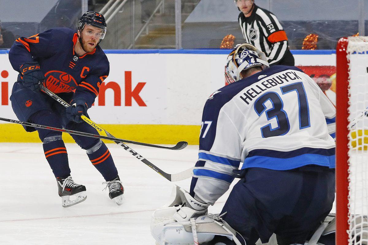 NHL: Stanley Cup Playoffs-Winnipeg Jets at Edmonton Oilers