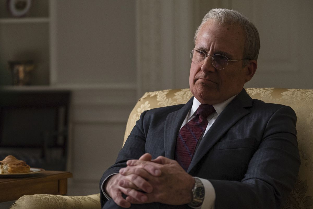 Steve Carell as Donald Rumsfeld in Vice.
