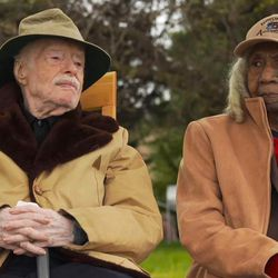 """Eddie and Edith by the river in the Oscar-nominated documentary short """"Edith+Eddie."""""""