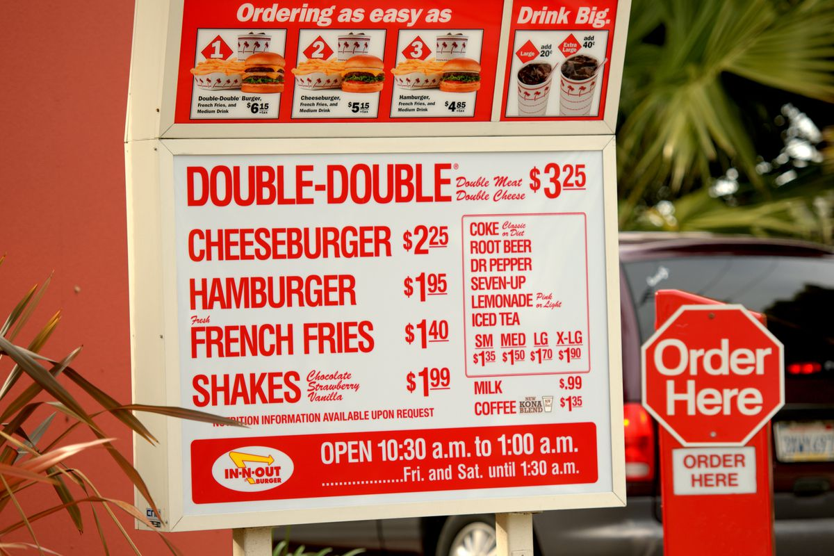 in and out burger menu pdf