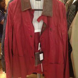 Armani raincoat, $584