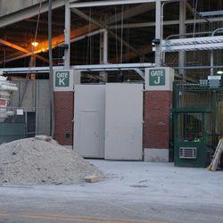 Closer view of Gate K/J, on Waveland Avenue